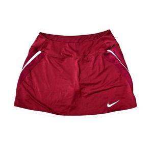Nike Dri Fit Skort Small Maroon w/ White Trim